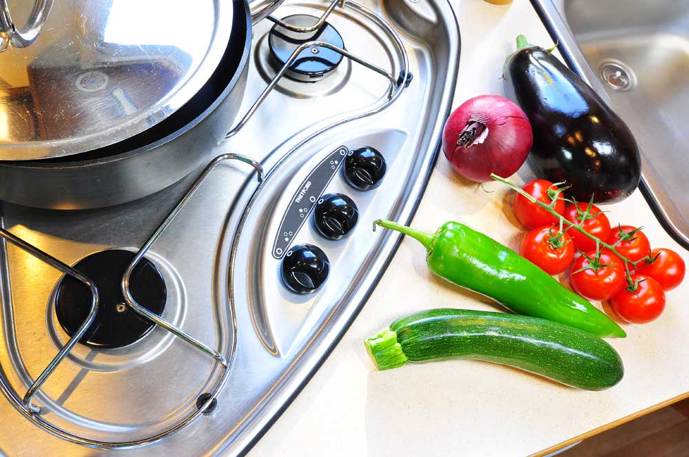 Your campervan kitchen will be immaculate if you hire from France Motorhome Hire