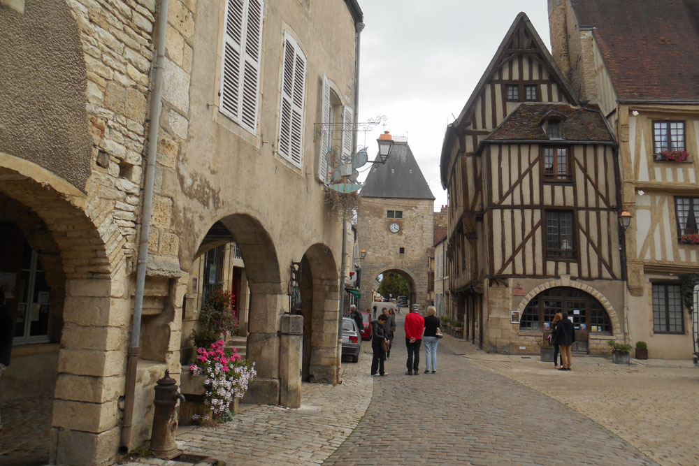 Pretty villages with historic sights are everywhere in France like the village of Noyers sur Serein in Burgundy