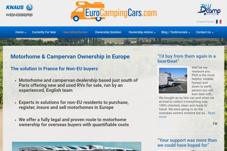 eurocampingcars website