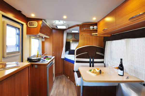 Euro-Explorer Motorhome interior from France Motorhome Hire