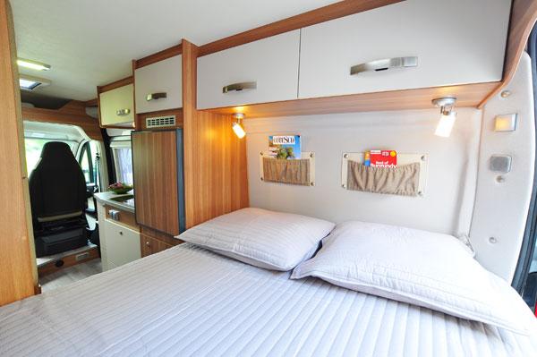 Euro-Traveller Prestige Campervan interior from France Motorhome Hire