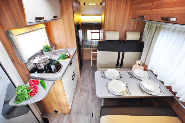 Euro-Voyager Prestige Motorhome interior from France Motorhome Hire