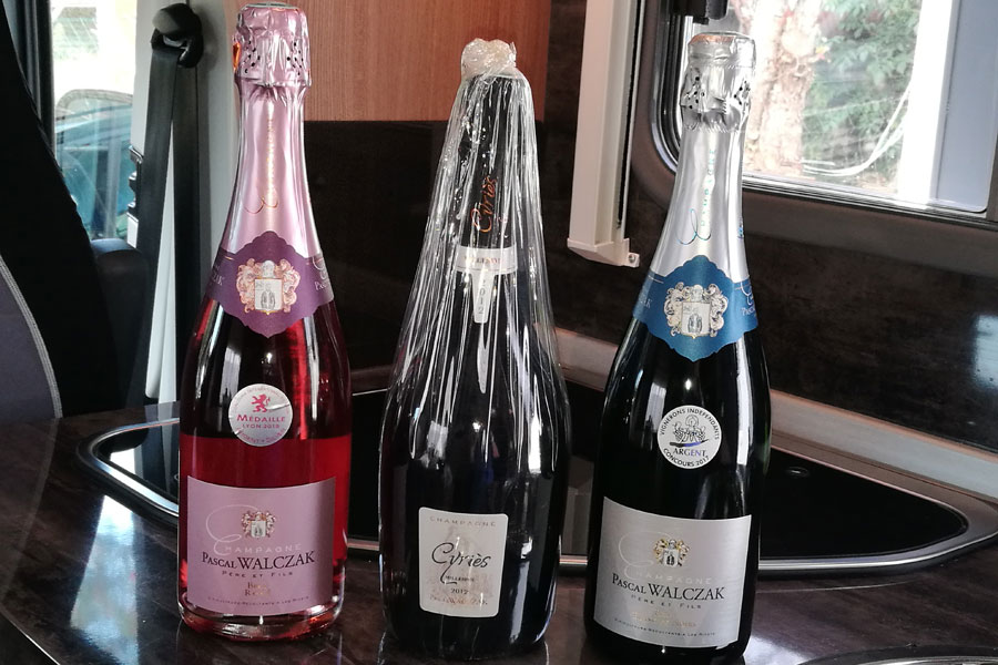 A trio of Pascal Walczak Champagnes in Les Riceys from 15.90 euros per bottle