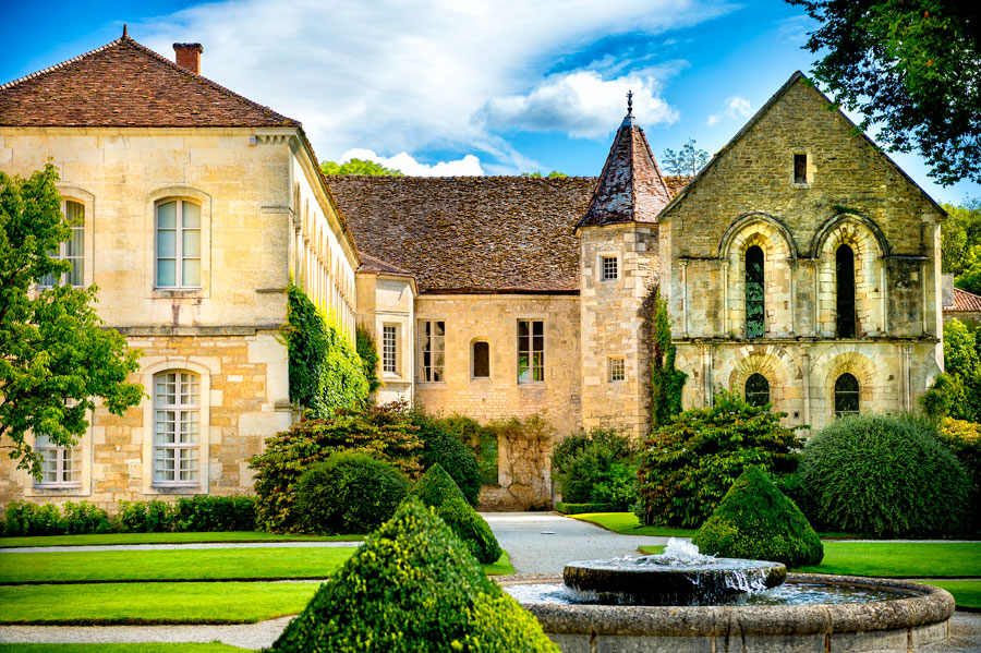 The Abbey de Fontenay in Bugundy with it's stunning cloisters and working forge makes for a great visit on a late autumn or winter trip