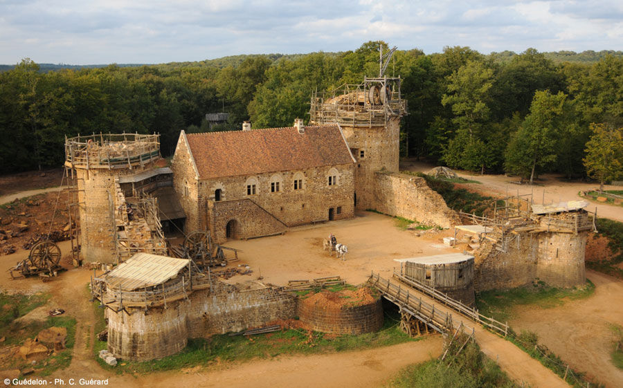 The Medieval Castle of Guedelon is really taking shape