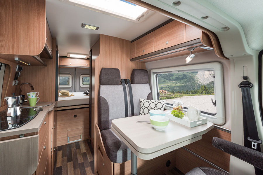 Modern motorhomes have spacious, dry, warm interiors and are a far cry from the damp caravans of old