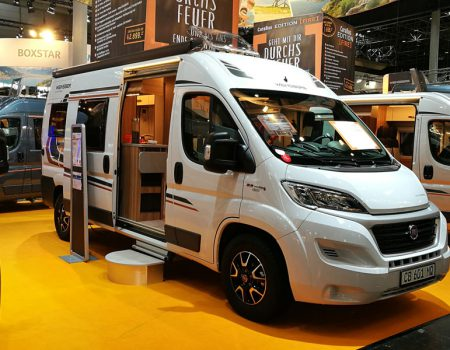 Researching next year's vehicles at the Paris Motorhome Show 2018