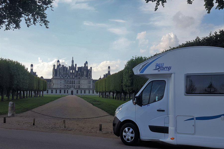 Chateau Chambord, just one of the many, glorious sights of The Loire Valley and you can get pretty close to it in your motorhome