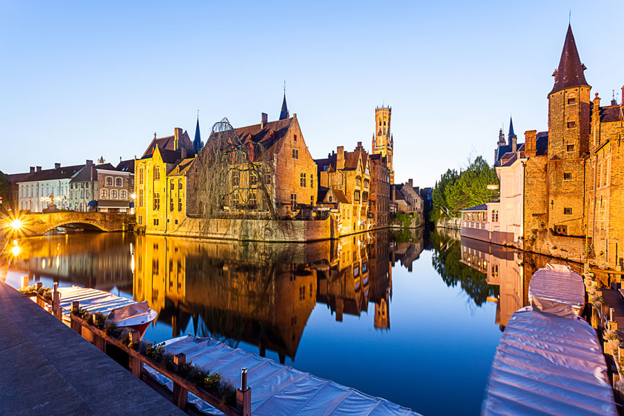 Beautiful Brugge, well worth a visit during your campervan trip and a great place for a boat trip