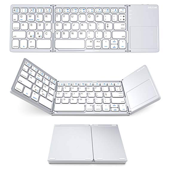 Try a keyboard when writing your motorhome travel blogs