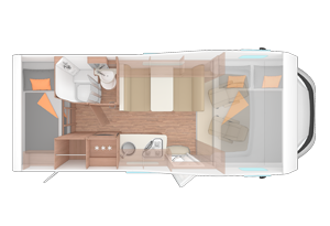 Family Voyager Motorhome layouts