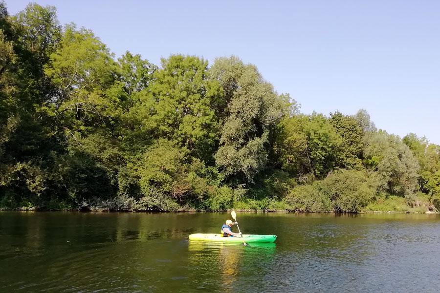 Kayaking on river Ounans