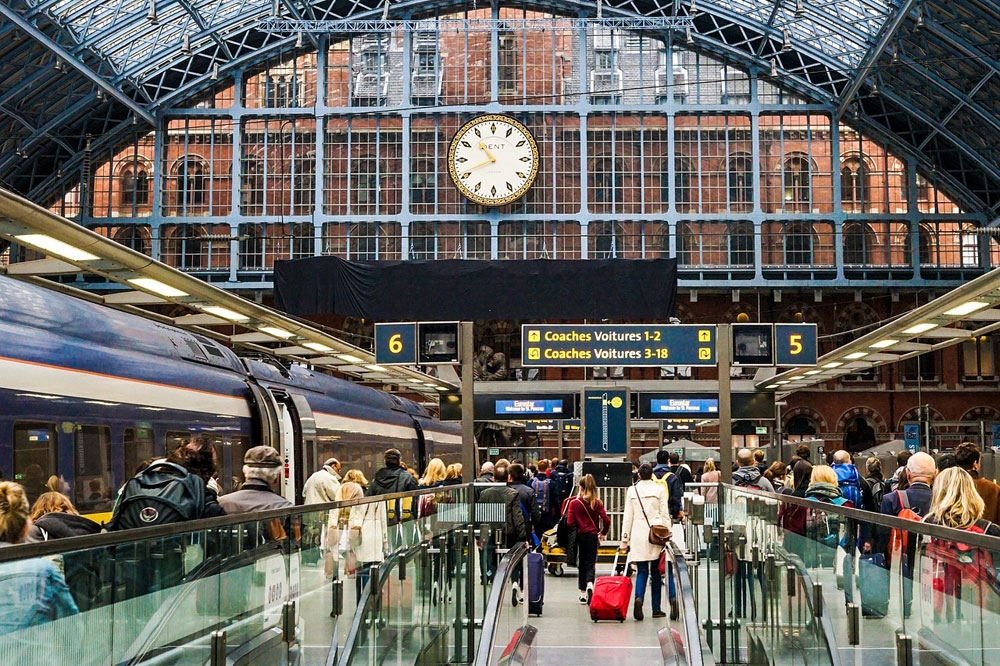 The departure from the Eurostar terminals are much simpler that an airport