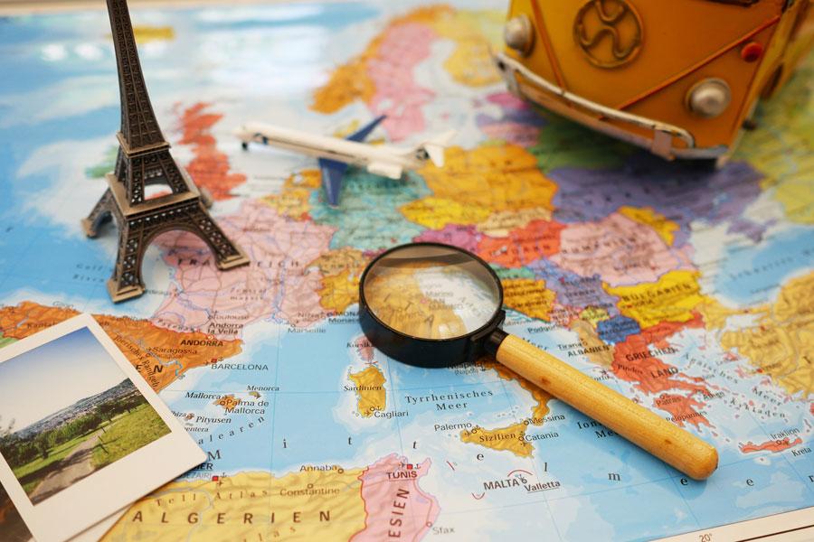 Campervan trip planning in France