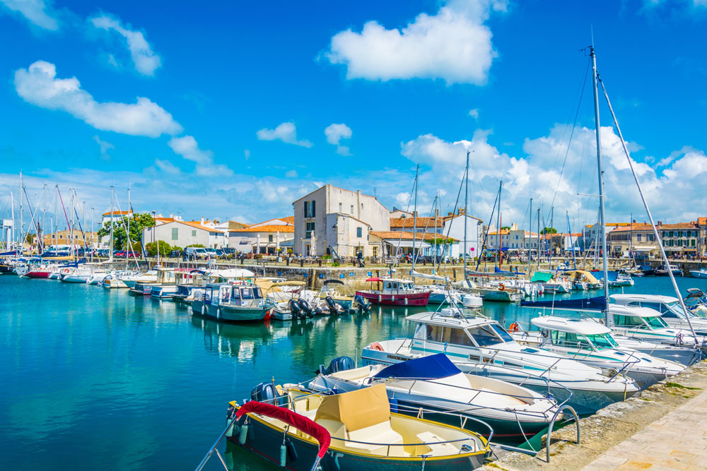 The port town of Saint-Martin-de-Ré is a stunning stop on our Tour de France 2020 Campervan Itinerary