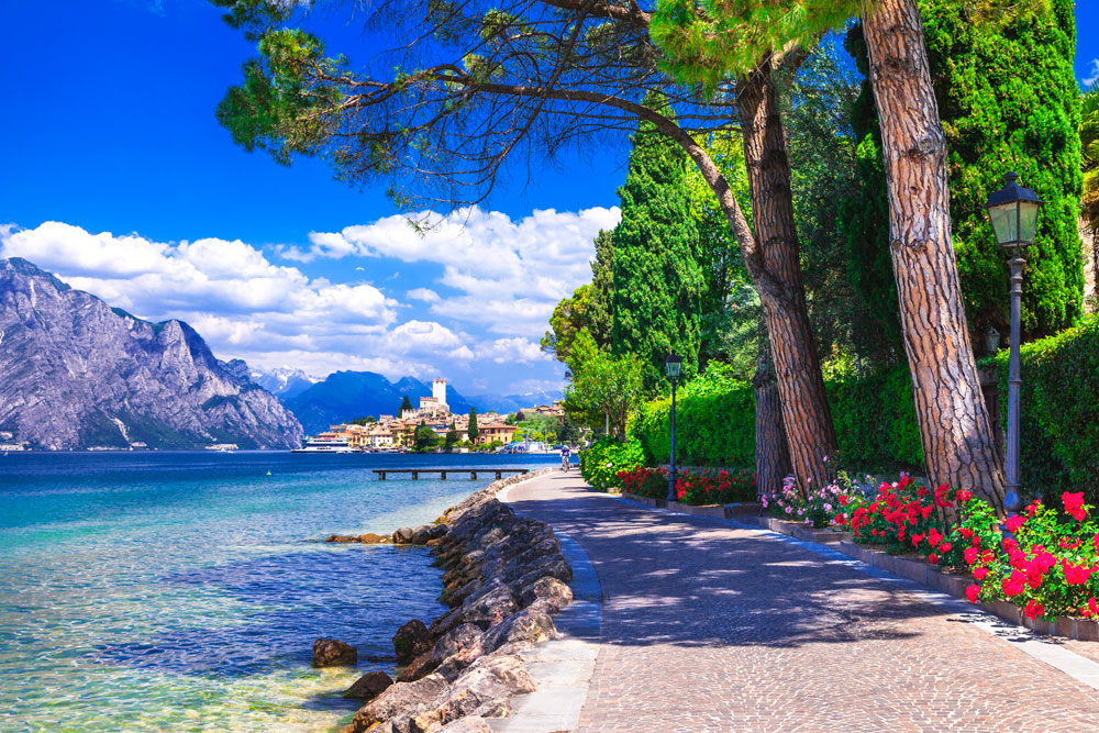 Head South - to Italy and Lake Garda on your Motorhome Holiday in France