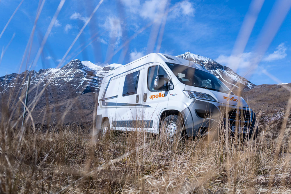 Apollo Motorhome in the mountains