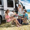 family on a campervan trip